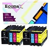 Ecomax 8 Tintenpatronen mit hoher Reichweite...