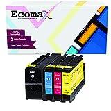 Ecomax 4 Tintenpatronen mit hoher Reichweite...