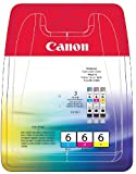 Canon BCI-6 C/M/Y Original Tintenpatronen,...
