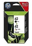 HP N9J71AE 62 Original-Tintenpatronen Schwarz und...