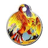 SeCag Flame Fire Phoenix Haustier-Erkennungsmarke...
